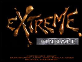 Title screen of Extreme Pinball on the Sony Playstation.