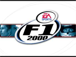 Title screen of F1 2000 on the Sony Playstation.