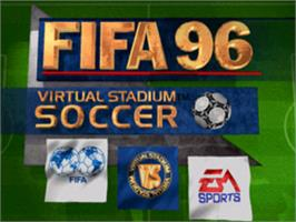Title screen of FIFA Soccer 96 on the Sony Playstation.