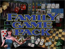 Title screen of Family Game Pack on the Sony Playstation.
