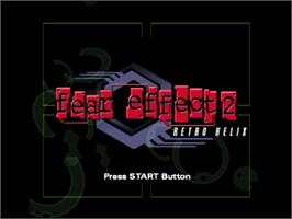 Title screen of Fear Effect 2: Retro Helix on the Sony Playstation.