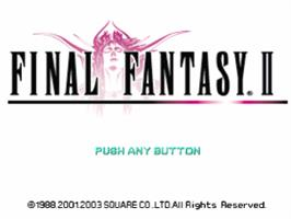 Title screen of Final Fantasy II on the Sony Playstation.