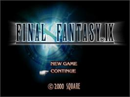 Title screen of Final Fantasy IX on the Sony Playstation.