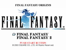 Title screen of Final Fantasy Origins on the Sony Playstation.