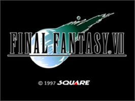 Title screen of Final Fantasy VII on the Sony Playstation.