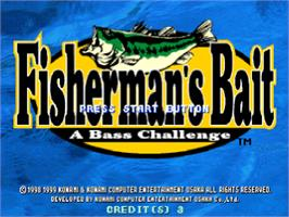 Title screen of Fisherman's Bait: A Bass Challenge on the Sony Playstation.
