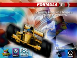 Title screen of Formula 1 on the Sony Playstation.
