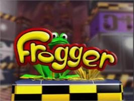 Title screen of Frogger on the Sony Playstation.