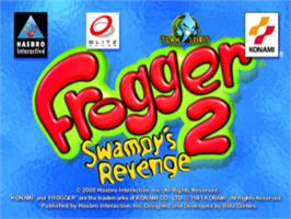 Title screen of Frogger 2: Swampy's Revenge on the Sony Playstation.
