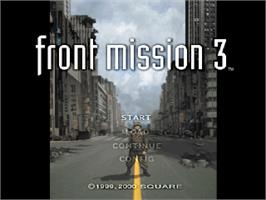 Title screen of Front Mission 3 on the Sony Playstation.