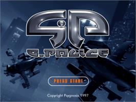 Title screen of G-Police: Weapons of Justice on the Sony Playstation.