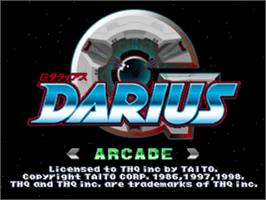 Title screen of G Darius on the Sony Playstation.