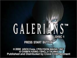 Title screen of Galerians on the Sony Playstation.