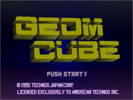 Title screen of Geom Cube on the Sony Playstation.