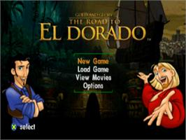 Title screen of Gold and Glory: The Road to El Dorado on the Sony Playstation.
