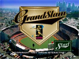 Title screen of Grand Slam on the Sony Playstation.