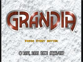 Title screen of Grandia on the Sony Playstation.