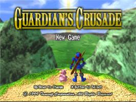 Title screen of Guardian's Crusade on the Sony Playstation.