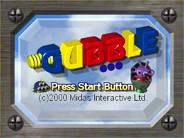 Title screen of Gubble on the Sony Playstation.