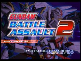 Title screen of Gundam Battle Assault 2 on the Sony Playstation.