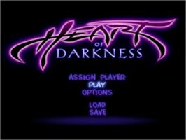 Title screen of Heart of Darkness on the Sony Playstation.