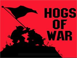 Title screen of Hogs of War on the Sony Playstation.