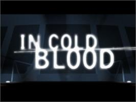 Title screen of In Cold Blood on the Sony Playstation.