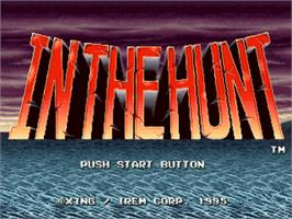 Title screen of In the Hunt on the Sony Playstation.
