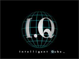 Title screen of Intelligent Qube on the Sony Playstation.