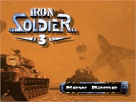Title screen of Iron Soldier 3 on the Sony Playstation.