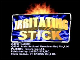 Title screen of Irritating Stick on the Sony Playstation.
