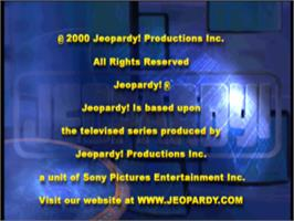 Title screen of Jeopardy! on the Sony Playstation.
