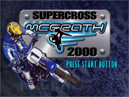 Title screen of Jeremy McGrath Supercross 2000 on the Sony Playstation.