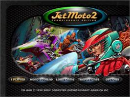 Title screen of Jet Moto 2 on the Sony Playstation.