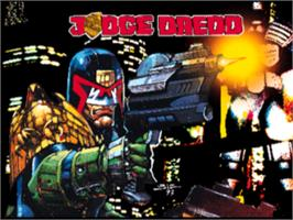 Title screen of Judge Dredd on the Sony Playstation.