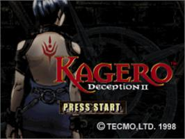 Title screen of Kagero: Deception II on the Sony Playstation.