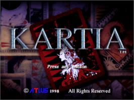 Title screen of Kartia: The Word of Fate on the Sony Playstation.