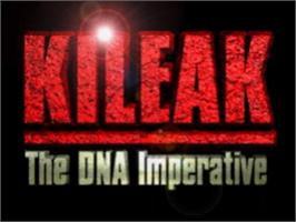 Title screen of Kileak: The DNA Imperative on the Sony Playstation.