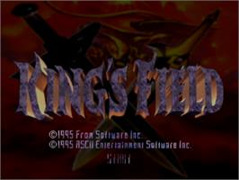 Title screen of King's Field on the Sony Playstation.