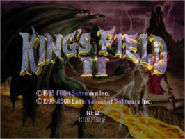 Title screen of King's Field II on the Sony Playstation.