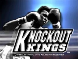Title screen of Knockout Kings on the Sony Playstation.