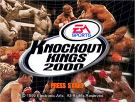 Title screen of Knockout Kings 2000 on the Sony Playstation.