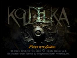 Title screen of Koudelka on the Sony Playstation.