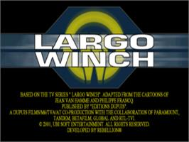 Title screen of Largo Winch .// Commando SAR on the Sony Playstation.