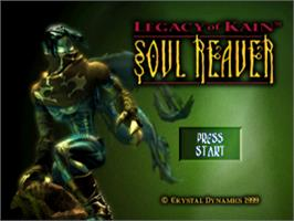 Title screen of Legacy of Kain: Soul Reaver on the Sony Playstation.