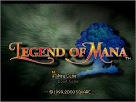Title screen of Legend of Mana on the Sony Playstation.