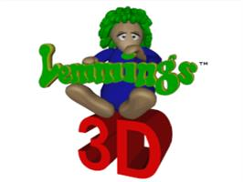 Title screen of Lemmings 3D on the Sony Playstation.