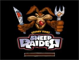 Title screen of Looney Tunes: Sheep Raider on the Sony Playstation.