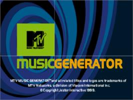 Title screen of MTV: Music Generator on the Sony Playstation.
