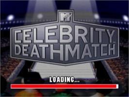 Title screen of MTV Celebrity Deathmatch on the Sony Playstation.
